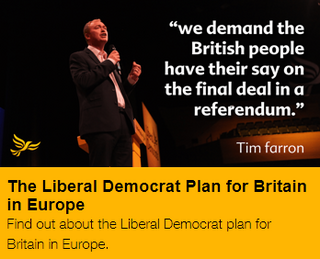Lib Dems want a further referendum on BREXIT terms