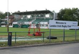London Irish rugby stand