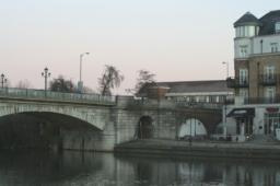 Staines bridge - showing the site where the new 7 storey development will be built
