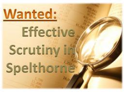 Scrutiny - Wanted in Spelthorne