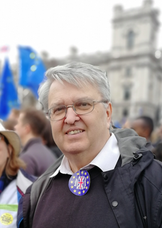 Lawrence Nichols at the people's vote march
