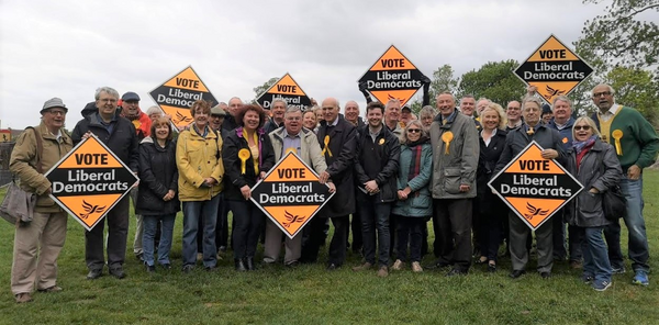 Spelthorne group photo with Vince Cable