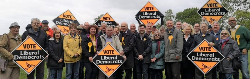Lib Dem group with Vince Cable - narrow format