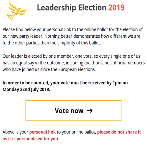 Lib Dem Leadership Ballot