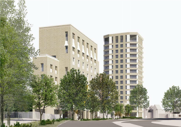 Impression of new development at Thameside, Staines (Spelthorne Borough Council)