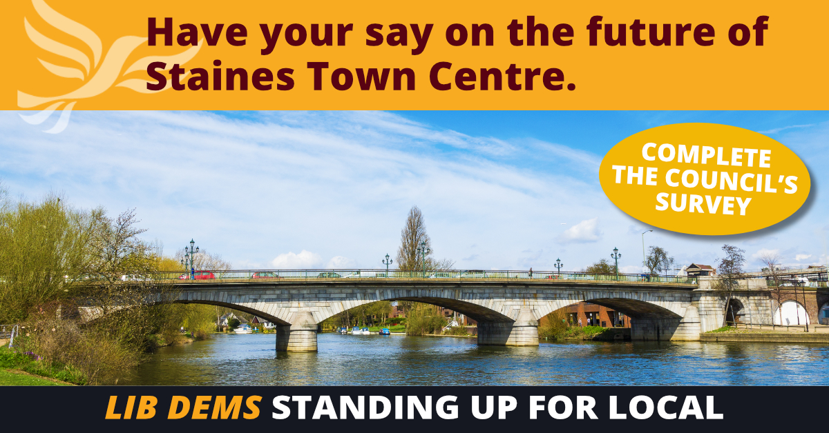 Spelthorne Liberal Democrats Staines Centra Plan Consultation ()