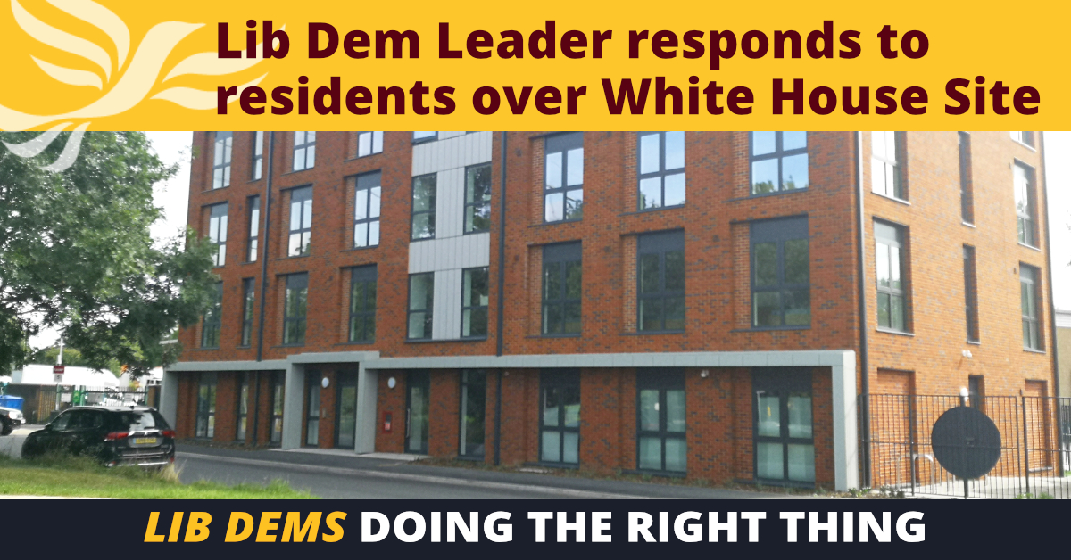 Spelthorne Liberal Democrats White House Site Meeting ()